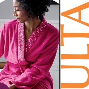 NWT ULTA Dark Pink Plush Robe Sz S-M